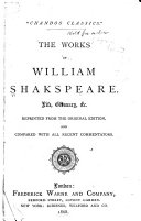 Pdf The Complete Works of Shakspere, with a Memoir