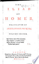 The Iliad of Homer  Translated by Alexander Pope Book