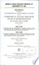 American Indian Religious Freedom Act Amendments Of 1994