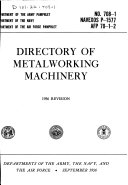 Directory of Metalworking Machinery