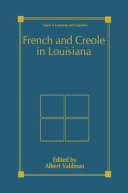 Pdf French and Creole in Louisiana Telecharger