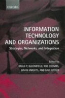 Pdf Information Technology and Organizations : Strategies, Networks, and Integration Telecharger