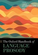 The Oxford Handbook of Language Prosody Pdf/ePub eBook