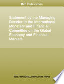 Statement by the Managing Director to the International Monetary and Financial Committee on the Global Economy and Financial Markets