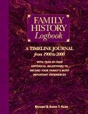 Family History Logbook Book PDF