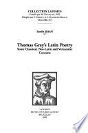 Thomas Gray's Latin Poetry