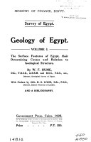 Geology of Egypt      The metamorphic rocks  with preface by H  H  Thomas