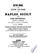 Hand book Or New Guide to Naples  Sicily and the Environs