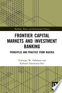 Frontier Capital Markets And Investment Banking PDF