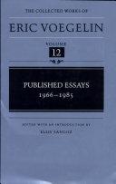 Published Essays, 1966-1985