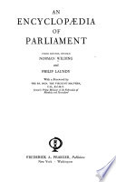 An Encyclopaedia Of Parliament