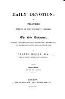 Daily Devotion  or  prayers formed on the successive chapters of the New Testament