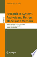 Research in Systems Analysis and Design  Models and Methods Book