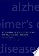 Cognitive Neuropsychology of Alzheimer's Disease
