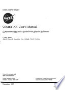 COMET-AR User's Manual: COmputational MEchanics Testbed with Adaptive Refinement