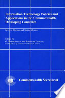 Read Online Information Technology Policies and Applications in the Commonwealth Developing Countries For Free