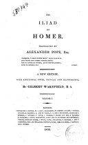 The Iliad of Homer Translated by Alexander Pope Esq      Volume 1  5