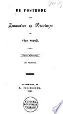 De Postbode Van Leeuwarden Op Groningen En Vice Versa