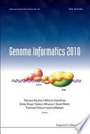 Genome Informatics 2010 Book PDF