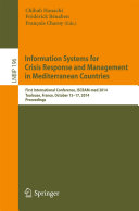 Information Systems for Crisis Response and Management in Mediterranean Countries