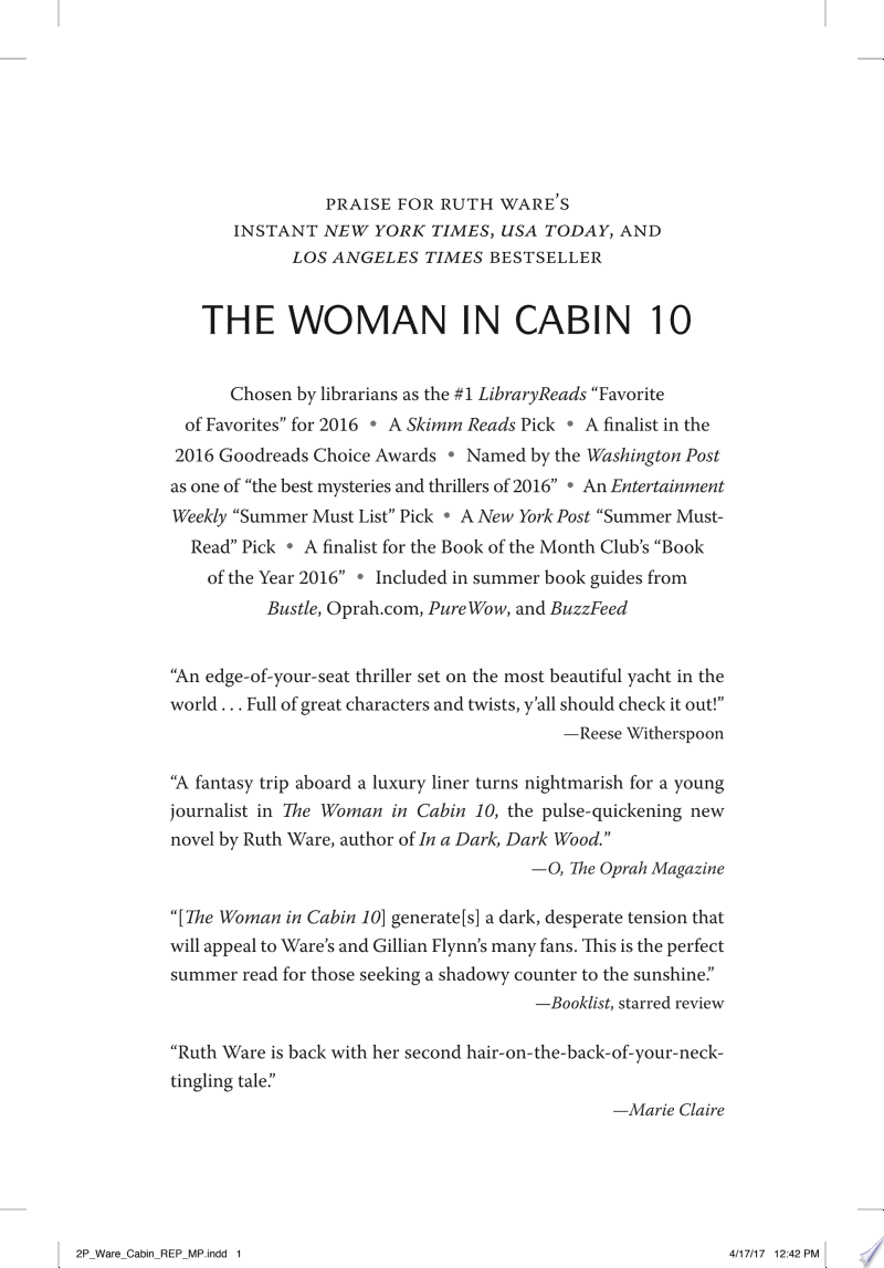 The Woman in Cabin 10 image