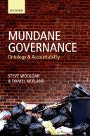 Mundane Governance: Ontology and Accountability - Seite 269