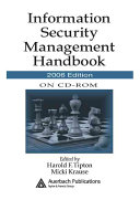 Information Security Management Handbook on CD-ROM, 2006 Edition