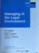 Managing in the Legal Environment Book