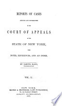 Reports of cases argued and determined in the Court of Appeals of the state of New York