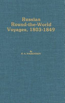Russian Round the world Voyages  1803 1849