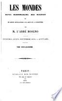 Le Cosmos; revue des sciences et de leurs applications