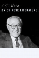C T  Hsia on Chinese Literature