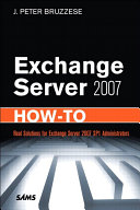 Exchange Server 2007 How To Book