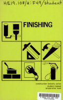Finishing  Construction Industry Series  Student Manual  Preparation Level