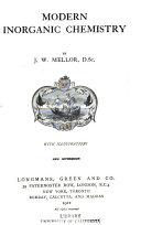Modern Inorganic Chemistry Book PDF