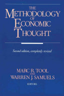 The Methodology Of Economic Thought