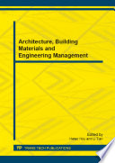 Architecture, Building Materials and Engineering Management