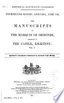 Calendar of the Manuscripts of the Marquess of Ormonde  K P