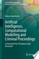 Artificial Intelligence  Computational Modelling and Criminal Proceedings Book