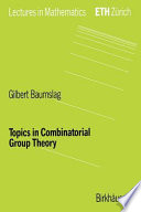 Topics in Combinatorial Group Theory