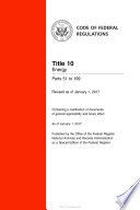 2017 Cfr Annual Print Title 10 Energy Parts 51 199