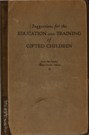 Suggestions for the Education and Training of Gifted Children