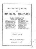 British Journal of Physical Medicine
