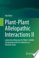 Plant Plant Allelopathic Interactions II