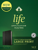 NLT Life Application Study Bible  Third Edition  Large Print  Leatherlike  Black Onyx  Indexed
