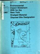 New York Dredging Disposal Site Designation