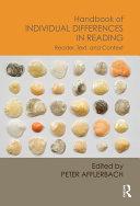 Handbook of Individual Differences in Reading Pdf/ePub eBook