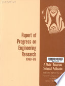 Report of Progress on Engineering Research 1968 69 Book