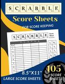 Scrabble Score Sheets
