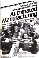 Proceedings of the 2nd European Conference on Automated Manufacturing  16 19 May  1983  Birmingham  U K